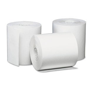 Universal One Single-Ply Thermal Paper Rolls 3 1/8 inches x 230 ft White 50/Carton