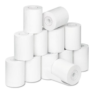 PM Company Thermal Paper Rolls Med/Lab/Specialty Roll 2 1/4-inch x 80-feet White 12/Pack