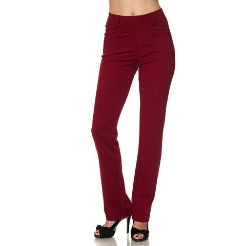 JED Women's Red Pull-On Dress Pants
