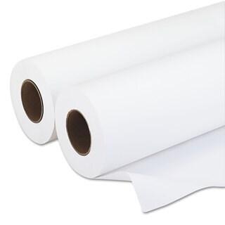 PM Company Amerigo Wide-Format Paper 20-pound 3 inches Core 24 inchesx500 ft White 2/Carton
