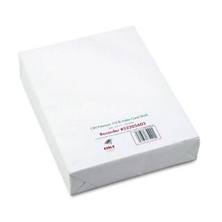 Oki Premium Card Stock 110-pound Letter White 250 Sheets/Box