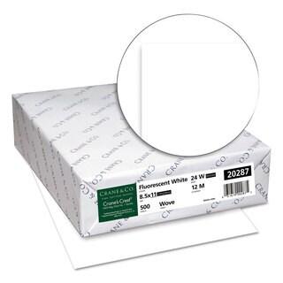 Neenah Paper CRANE'S CREST 100-percent Cotton Paper 24-pound 98 Bright Letter Fluor.White 500 Sheet