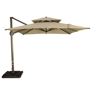 Abba Patio 9-foot Beige Cantilever Umbrella with Cross Base
