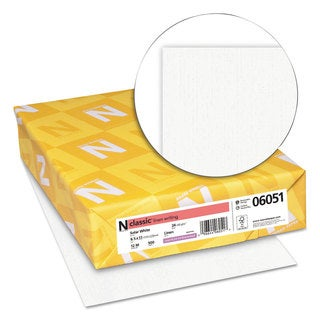 Neenah Paper CLASSIC Linen Paper 24-pound 97 Bright 8 1/2 x 11 Solar White 500 Sheets