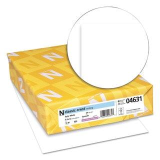 Neenah Paper CLASSIC CREST Paper 24-pound 97 Bright 8 1/2 x 11 Solar White 500 Sheets