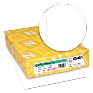 Neenah Paper ENVIRONMENT PCF Recycled Paper 24lb 95 Bright 8 1/2 x 11 500 Sheets