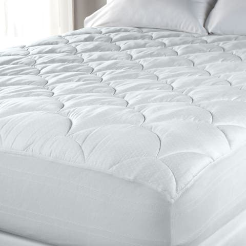 PrimaLoft 600 Thread Count Extra Plush Hypoallergenic Mattress Pad - White