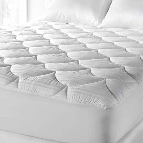 PrimaLoft 600 Thread Count Extra Plush Hypoallergenic Mattress Pad - White