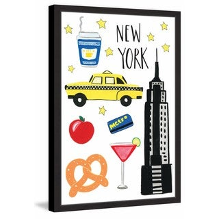 Marmont Hill - 'NYC Icons' by Molly Rosner Framed Painting Print