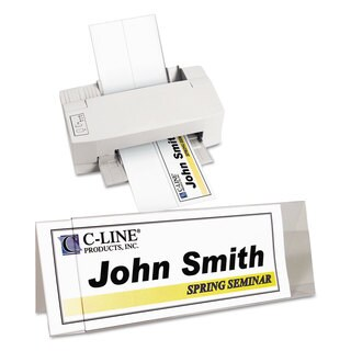 C-Line Tent Card Holders 4 1/4-inch x 11-inch Rigid Heavyweight Clear Plastic 25/Box