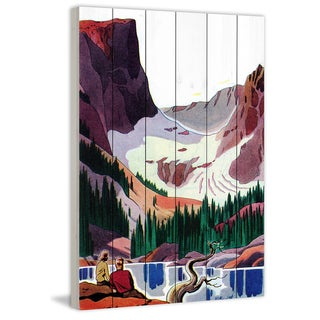 Marmont Hill - Handmade Colorado Calling Painting Print on White Wood