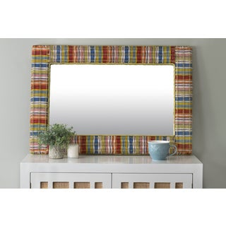 East At Main's Essex Multi-Colored Rectangular Rattan Mirror