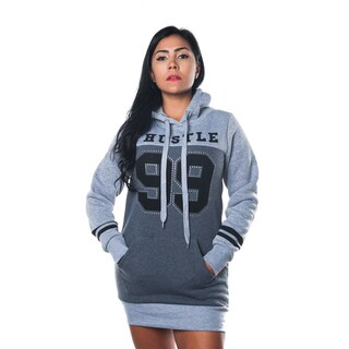 Special One Women's Grey Cotton-blend Hoodie Sweatshirt