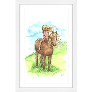 Marmont Hill - 'Horse Girl' by Phyllis Harris Framed Painting Print