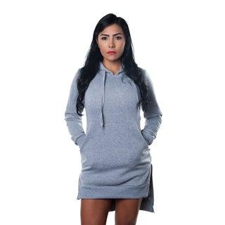 Special One Women's Cotton Blend High Low Mini Dress Hoodie Sweatshirt