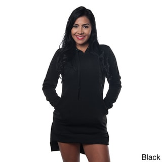 Special One Women's Cotton Blend High Low Mini Dress Hoodie Sweatshirt