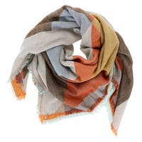 LA77 Multicolor Acrylic Large Geometric Blanket Scarf
