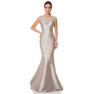Terani Couture Women's V-neck Sweetheart Mother-of-the-Bride Dress