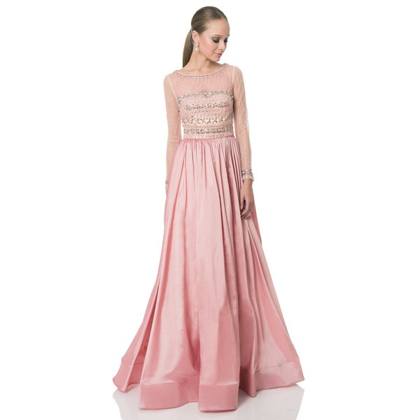 62c00a9e9d1 Shop Terani Couture Pink Long Taffeta Mother of the Bride Gown - Free  Shipping Today - Overstock - 13997574