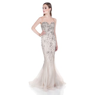 Terani Couture Strapless Illusion Pageant Gown