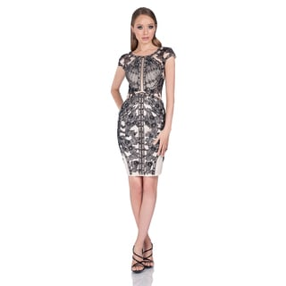 Terani Couture Two-tone Short Cocktail Dress