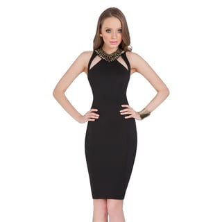 Terani Couture Women's Cocktail Dress with Jewel-embellished Neckline