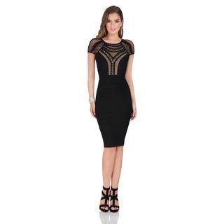 Terani Couture Knit Short Cocktail Dress