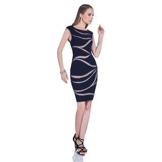 Terani Couture Blue Sleeveless Cocktail Dress