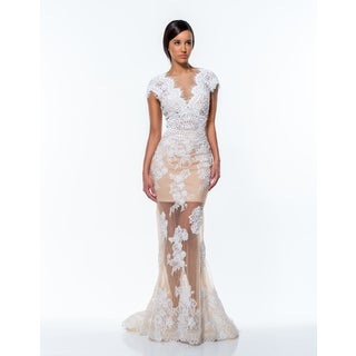 Terani Couture Long Lace Pageant Gown