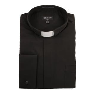 Black Clergy Bishop Deacon Priest Mandarin Banded Collar Dress Shirt https://ak1.ostkcdn.com/images/products/13997617/P20620970.jpg?impolicy=medium