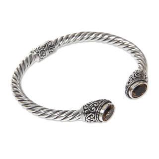 Handmade Sterling Silver 'Bali Splendor' Citrine Bracelet (Indonesia)