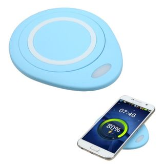 Insten Blue Wireless Charging Pad for LG Google Nexus 5X/ Motorola Google Nexus 6/ Samsung Galaxy Note 5/ S6 Edge/ S6 Edge Plus