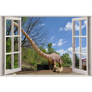 Full color Dinosaur diplodocus sticker, Dinosaur diplodocus decal, art Sticker Decal size 22x30
