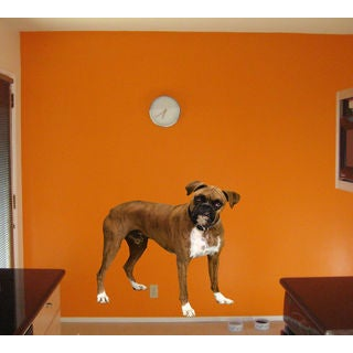 Full color Boxer Dog sticker, Boxer Dog decal, Boxer Dog sticker, art Sticker Decall size 48x65