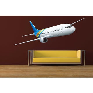 Full color Plane airplane boing sticker, airplane decal, wall art decal Sticker Decal size 22x30