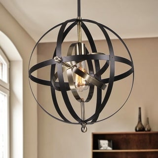 Vaydin 1-light Pendant Mixed Strap Bronze Globe Includes Edison Bulb