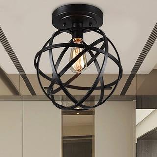 metal lighting dining room warehouse of tiffany emrael antiqueblack globe 1light edison bulb ceiling lamp china flush mount lighting for less overstockcom
