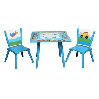 Levels of Discovery Olive Kids Trains, Planes, Trucks Table and Chair Set