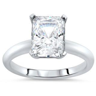 Noori 14k White Gold 2 3/5ct TGW Moissanite Solitaire Engagement Ring