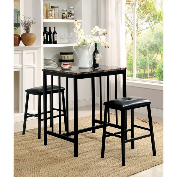 ... Marble Top Counter Height Dining Set - Free Shipping Today - Overstock