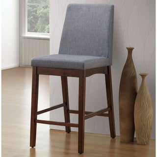 Link to Furniture of America Fass Mid-century Grey Counter Chairs (Set of 2) Similar Items in Dining Room & Bar Furniture