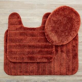 Mohawk Veranda Bath Rug Set (Set Contains: 1'8x2'6, 1'8x1'8 Contour and Universal Toliet Lid Cover)