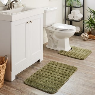 Mohawk Veranda Bath Rug Set (Set Contains: 1'8x2'6, 1'8x1'8 Contour and Universal Toliet Lid Cover)