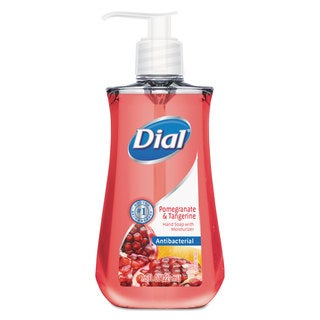 Dial Antimicrobial Liquid Soap 7 1/2-ounce Pump Bottle Pomegranate & Tangerine 12/Carton