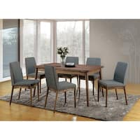 Reynorth Mid-century Modern Natural Tone 7-piece Dining Set by FOA