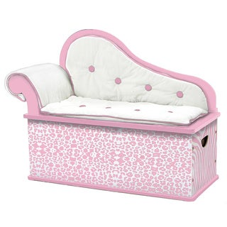 Levels of Discovery Pink Wild Side Bench Seat with Storage