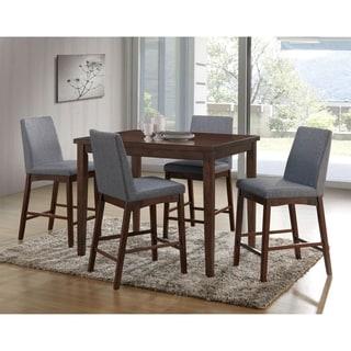 Furniture of America Tenor Mid-century Modern 5-piece Brown Cherry Dining Set
