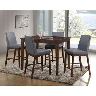 Furniture Of America Tenor Mid Century Modern 5 Piece Brown Cherry Dining  Set