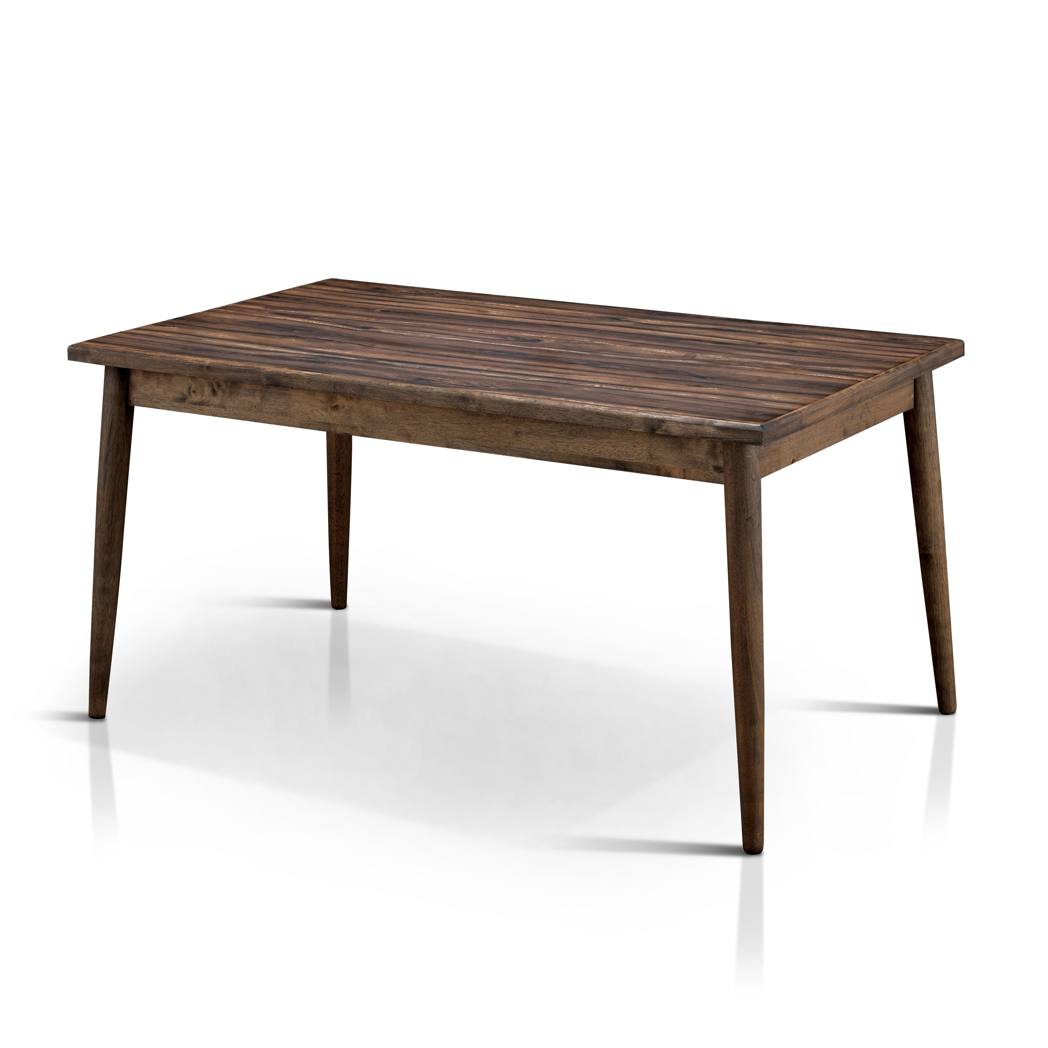 Furniture Of America Reynorth Mid Century Modern Dining Table Brown