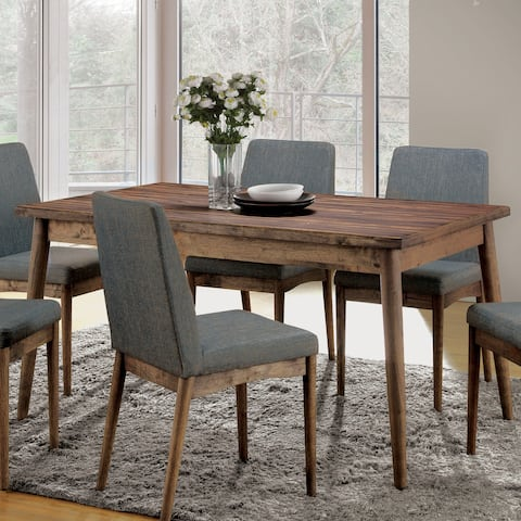 Furniture of America Reynorth Mid Century Modern Dining Table - Brown